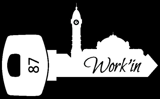 Work'in 87 /  location bureau et domiciliation entreprise 25€/Mois espace affaires résidence postale limoges commerciale workspace société de domiciliation siège social